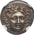 Ancients:Greek, Ancients: MACEDONIAN KINGDOM. Perseus (179-168 BC). AR drachm(14mm, 2.77 gm, 5h). NGC MS ★ 5/5 - 5/5. ...