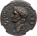 Ancients:Roman Imperial, Ancients: Divus Augustus (died AD 14). AE dupondius (29mm, 12.21gm, 6h). NGC XF 5/5 - 4/5....