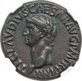 Ancients:Roman Imperial, Ancients: Claudius I (AD 41-54). AE as (29mm, 10.43 gm, 7h). NGC XF 5/5 - 4/5, Fine Style, scuff....