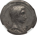 Ancients:Roman Imperial, Ancients: Augustus (27 BC-AD 14). AR cistophorus (25mm, 11.64 gm,2h). NGC VF 4/5 - 3/5. ...