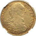 Colombia, Colombia: Charles III gold 8 Escudos 1787 NR-JJ XF40 NGC,...