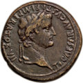 Ancients:Roman Imperial, Ancients: Tiberius, as Caesar (AD 4-14). AE sestertius (35mm, 25.92gm, 6h). Choice Fine....