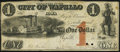Obsoletes By State:Iowa, Wapello, IA- City of Wapello $1 Aug. 31, 1857. ...