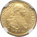 Colombia, Colombia: Ferdinand VII gold Escudo 1814 NR-JF MS61 NGC,...