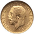 Australia, Australia: George V Pair of NGC Certified gold 1/2 Sovereigns,...(Total: 2 coins)