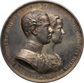 "Austria, Austria: Franz Joseph I silver Proof ""Marriage"" Medal MDCCCLIIII(1854) Proof UNC, ..."