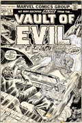 Original Comic Art:Covers, Rich Buckler and John Romita Sr. Vault of Evil #5 CoverOriginal Art (Marvel, 1973)....