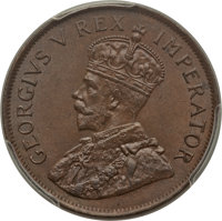 South Africa: George V Penny 1929 MS65 Brown PCGS