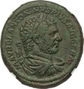 Ancients:Roman Imperial, Ancients: Caracalla (AD 198-217). AE sestertius (32mm, 27.90 gm,2h). NGC XF 4/5 - 4/5, Fine Style....
