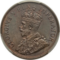 South Africa: George V Penny 1934 MS65 Brown PCGS