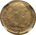 Colombia, Colombia: Charles III gold Escudo 1777 P-SF VF Details (ObverseDrill Damage) NGC,...