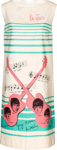 Music Memorabilia:Autographs and Signed Items, Beatles Signed Sleeveless Cotton Dress (1960s)....
