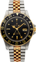 Timepieces:Wristwatch, Rolex Ref. 16753 18k Gold & Steel GMT Master with Nipple Dial,circa 1981. ...