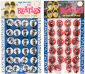 "Music Memorabilia:Memorabilia, Beatles ""Official Pins"" Original Cardboard Store Display, Complete with Twenty-four Pins (UK, Subbuteo, circa 1964). ... (Total: 2 Items)"