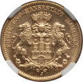 German States:Hamburg, German States: Hamburg. Free City gold 10 Mark 1912-J MS65 NGC,...