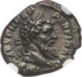 Ancients:Roman Imperial, Ancients: Pertinax (AD 193). AR denarius (18mm, 2.79 gm, 6h). NGCChoice XF 4/5 - 2/5, smoothing....