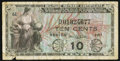 Military Payment Certificates, Series 481 10¢ Replacement Very Good-Fine.. ...