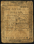 Continental Currency February 17, 1776 $1/6 Very Good