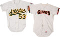 Baseball Collectibles:Uniforms, 1985-87 Mark Davis & Steve Ontiveros Game Worn Jerseys Lot of 2. ...