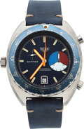 Timepieces:Wristwatch, Heuer Ref. 1564 Skipper Chronograph Cal. 15 Automatic. ...