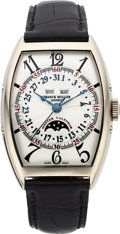 Timepieces:Wristwatch, Franck Muller, Master Calendar Moonphase, 18K White Gold, Ref. 6850MCL, No. 59, Circa 2000s. ...