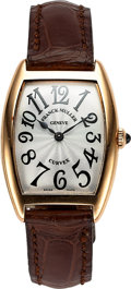 Timepieces:Wristwatch, Franck Muller, Cintree Curvex 18K Rose Gold, Ref. 1752QZ, No. 612, Circa 2000s. ...