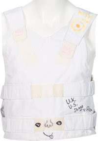 Rolling Stones - Keith Richards Signed and Stage Worn British Stab Proof Vest (UK, circa 1980)