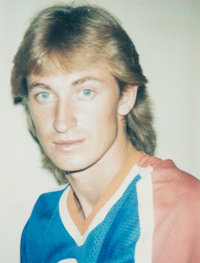 Andy Warhol (American, 1928-1987) Wayne Gretzky, 1984 Unique color Polaroid 3-3/4 x 2-7/8 inches