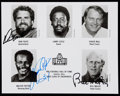 Autographs:Photos, 1993 Pro Football Hall of Fame Multi-Signed Photograph (3Signatures)....