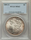 Morgan Dollars: , 1891-S $1 MS63 PCGS. PCGS Population: (3313/2971). NGC Census: (2218/1707). CDN: $120 Whsle. Bid for problem-free NGC/PCGS ...