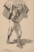 Fine Art - Work on Paper, Frederic Remington (American, 1861-1909). A Freight Car,1890. Ink on board. 10-3/4 x 7-3/8 inches (27.3 x 18.7 cm). Sig...