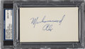 Boxing Collectibles:Memorabilia, Circa 1980 Muhammad Ali Signed Index Card, PSA/DNA Gem Mint 10. ...