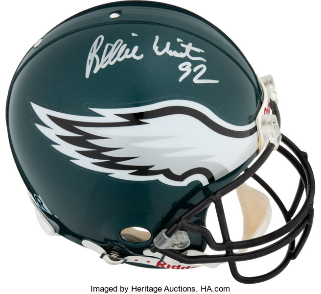 best sneakers c49bc b5a6c 1990's Reggie White Signed Full Size Philadelphia Eagles ...