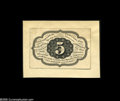 Fractional Currency:Experimentals, Proofs and Essays, Milton 1E5R.3a 5¢ First Issue Essay Choice New. Printed in blackink on a thin brownish paper which is in turn mounted to li...