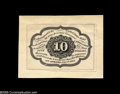 Fractional Currency:Experimentals, Proofs and Essays, Milton 1E10R.1a 10¢ First Issue Essay New. Printed in black ink ona thin brownish paper which is in turn mounted to light c...