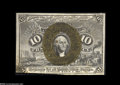 Fractional Currency:Experimentals, Proofs and Essays, Milton 2E10F.4d 10¢ Second Issue Experimental Choice New. Aninteresting and rare piece that is not stamped or punched and h...