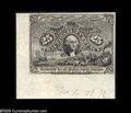 Fractional Currency:Experimentals, Proofs and Essays, Milton 2E25F.3d 25¢ Second Issue Experimental Choice About New.This is the lower-left corner from the full sheet of Experim...