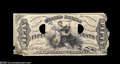 Fractional Currency:Experimentals, Proofs and Essays, Milton 3E50FR.1 50¢ Third Issue Justice Experimental Fine, Damaged.The piece is quite badly damaged with chipping at the l...