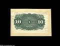 Fractional Currency:Experimentals, Proofs and Essays, Milton 4E10R.1 10¢ Fourth Issue Back Essay About New, Damaged. Themounting is identical to that of the previous lot, and th...