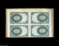 Fractional Currency:Experimentals, Proofs and Essays, Milton 5E10R.2a 10¢ Fifth Issue Uncut Tete-Beche Block of Four VeryChoice New. Previously lot 1106 from our January 1997 Sa...
