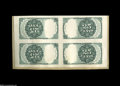 Fractional Currency:Experimentals, Proofs and Essays, Milton 5E25R.1a 25¢ Fifth Issue Uncut Tete-Beche Block of Four VeryChoice New. This is the 25¢ counterpart to the 10¢ block...