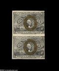 Fractional Currency:Second Issue, Fr. 1286 25¢ Second Issue Pair Extremely Fine. A partial back plate number is visible at lower right. The bronze surcharge o...