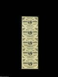 Fractional Currency:Third Issue, Fr. 1226 3c Third Issue Vertical Strip of Five. Each note grades nearly New. The top note has a missing corner tip....