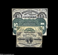 Fractional Currency:Third Issue, Fr. 1272SP 15¢ Third Issue Narrow Margin Pair New. The otherwise very nice Grand-Sherman face has three small rust stains. T... (4 items)