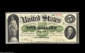 Large Size:Demand Notes, Fr. 2 $5 1861 Demand Note Choice Extremely Fine. One of the finest$5 Demand Notes we have had the pleasure of handling. The...