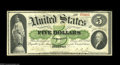 Fr. 3 $5 1861 Demand Note Extremely Fine. A lovely Boston Demand note with strong signatures, great eye appeal, and marg...