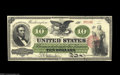 """Large Size:Legal Tender Notes, Fr. 93 $10 1862 Legal Tender Choice New. We last auctioned thisnote in our January 2000 sale where we described it: """"Strong..."""