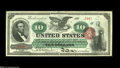 Large Size:Legal Tender Notes, Fr. 95b $10 1863 Legal Tender Choice New. This is by far, thesingle best face margins we have ever seen on this type and th...