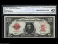 Large Size:Legal Tender Notes, Fr. 123 $10 1923 Legal Tender CGA Gem Uncirculated 65. This lovelyexample of this scarce one-number twentieth-century type ...