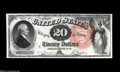 Large Size:Legal Tender Notes, Fr. 137 $20 1880 Legal Tender Gem New. A little less margin at thetop than we would like to see for the Superb grade, but a...
